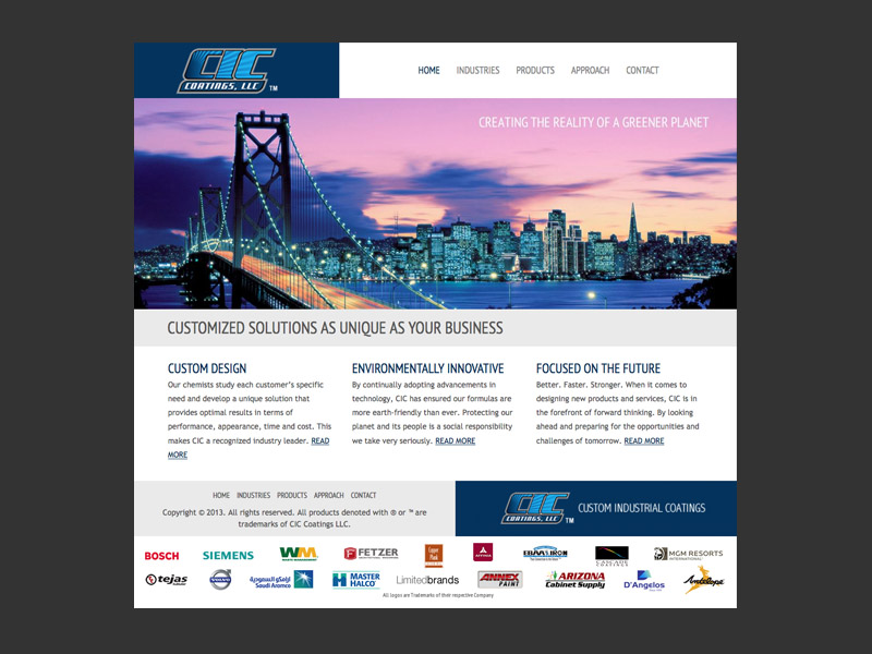 CIC Coatings<div style='clear:both;width:100%;height:0px;'></div><span class='cat'>Website</span>