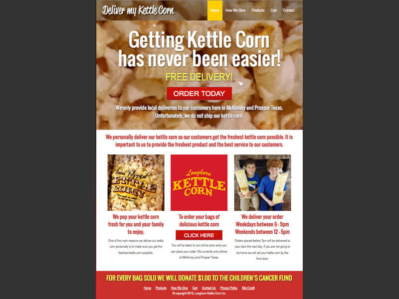 Deliver My Kettle Corn<div style='clear:both;width:100%;height:0px;'></div><span class='cat'>Website</span>