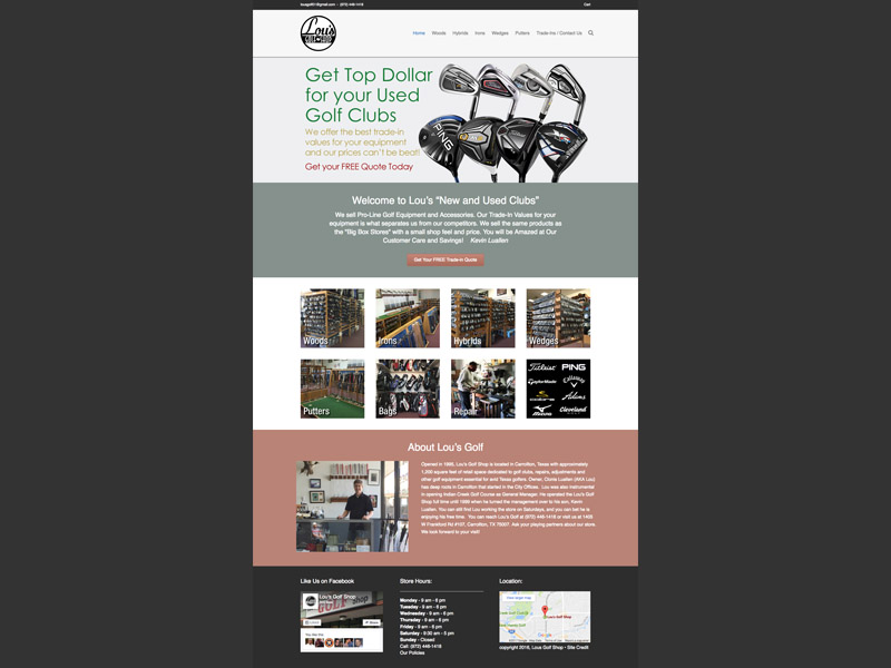 Lous Golf Online<div style='clear:both;width:100%;height:0px;'></div><span class='cat'>Website</span>