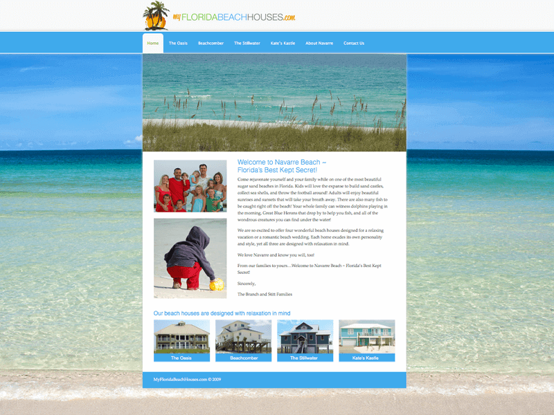 My Florida Beach Houses<div style='clear:both;width:100%;height:0px;'></div><span class='cat'>Website</span>