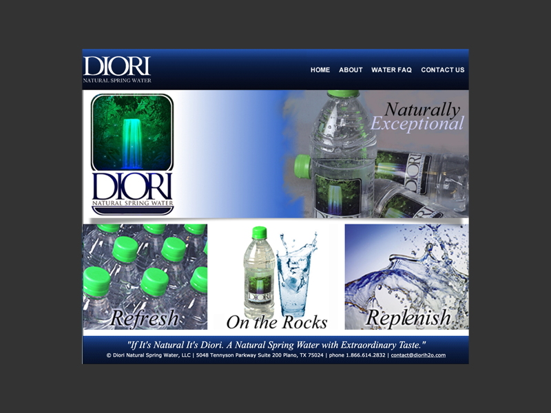 Diori Spring Water<div style='clear:both;width:100%;height:0px;'></div><span class='cat'>Website</span>