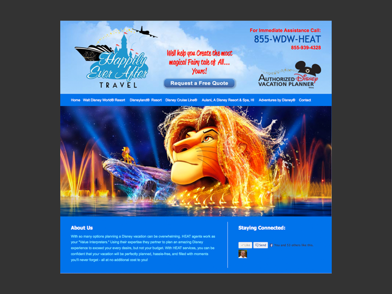 Disney Travel<div style='clear:both;width:100%;height:0px;'></div><span class='cat'>Website</span>